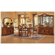 ESF Furniture Milady 5pcs Dining Room Set in Walnut