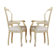 ESF Furniture Rosella Arm Chair in Ivory (Set of 2)