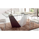 ESF Furniture 1018/365 Dining Table in Two-Toned White