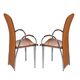 ESF Furniture 4083 Arm Chair in Brown (Set of 2)