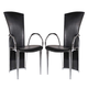ESF Furniture 4083 Arm Chair in Black (Set of 2)