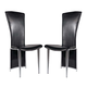 ESF Furniture 4083 Side Chair in Black (Set of 2)