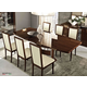 ESF Furniture Roma 7pcs Dining Room Set in Walnut