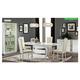 ESF Furniture Roma 7pcs Dining Room Set in White