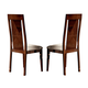 ESF Furniture Capri Side Chair in Dark Walnut (Set of 2)