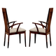 ESF Furniture Capri Arm Chair in Dark Walnut (Set of 2)