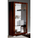 ESF Furniture Capri Curio in Dark Walnut