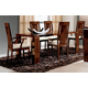 ESF Furniture Capri Expandable Dining Table in Dark Walnut