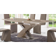 ESF Furniture 2122 Dining Table w/ Extension in Taupe