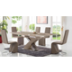 ESF Furniture 2122/6609 7-Piece Dining Room Set in Taupe
