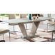 ESF Furniture 2135 Dining Table w/ Extension in Beige Tan