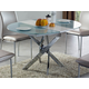 ESF Furniture 2303 Dining Table w/ Extension in Chrome