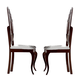 ESF Furniture Carmen Side Chair in Walnut (Set of 2)