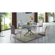 ESF Furniture 2303/8040 5-Piece Dining Room Set in Chrome