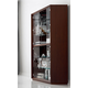 ESF Furniture Carmen 4-Door Curio in Walnut