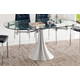 ESF Furniture T017 Dining Table w/ Extension in Chrome