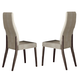 ESF Furniture Prestige Side Chair in Walnut (Set of 2)