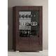 ESF Furniture Prestige 2-Door Curio in Walnut