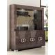 ESF Furniture Prestige 3-Door China in Walnut