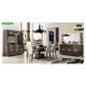 ESF Furniture Prestige 7pcs Dining Room Set in Walnut