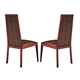 ESF Furniture Status Caprice Side Chair in Walnut (Set of 2)