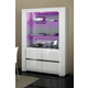 ESF Furniture Elegance 2-Door China w/Lights in White