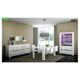 ESF Furniture Elegance 5pcs Dining Room Set in White