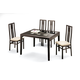 ESF Furniture Poker 5-Piece Dining Room Set in Cappuccino