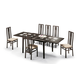 ESF Furniture Poker 7-Piece Dining Room Set in Cappuccino