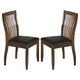 Stuman Dining Upholstered Side Chair (Set of 2) in Medium Brown D293-01