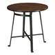 Challiman Round Dining Room Bar Table in Rustic Brown D307-12