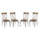 Plentywood Dining Upholstered Side Chair (Set of 4) in Brown D313-01