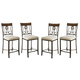 Hopstand Upholstered Barstool (Set of 4) in Brown D314-124