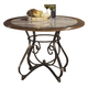 Hopstand Round Dining Room Counter Table in Brown