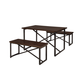 Joring Rectangular Dining Room Table Set (Set of 3) in Dark Brown D301-125