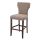 Glosco Tall Upholstered Barstool (Set of 2) in Brown D548-130