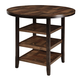 Moriann Round Dining Room Counter Table in Dark Brown D608-13