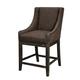 Moriann Upholstered Barstool (Set of 2) in Dark Brown D608-424
