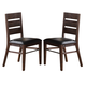 New Classic Furniture Fairway Dining Chair in Distressed Walnut D1002-20 (Set of 2)