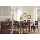 New Classic Furniture Fairway 8-Piece Dining Room Set in Distressed Walnut