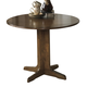 Stuman Round Drop Leaf Table in Medium Brown D293-15
