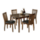 Stuman Rectangular Dining Room Table Set (Set of 5) in Medium Brown D293-225