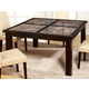 Global Furniture Marble Stone Top Dining Table in Dynasty Brown D041DT
