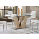 Global Furniture Dining Table in Sonoma/White D2123DT