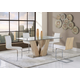 Global Furniture D2123DT & D2123DC 7-Piece Dining Room Set in Sonoma/White