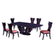 Global Furniture D52 Dining Table in Wenge D52-WENGE-DT