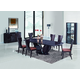 Global Furniture D52 7-Piece Dining Room Set in Wenge