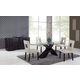 Global Furniture DG018 5-Piece Dining Room Set in Wenge/Beige