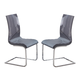 Global Furniture D989 Dining Chair (Set of 2) in Grey D989DC
