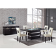 Global Furniture DG072 5-Piece Dining Room Set in Wenge/Beige